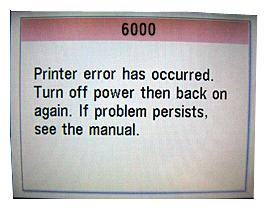 Canon Error 6000